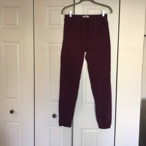 Pants - Maroon khaki styled joggers